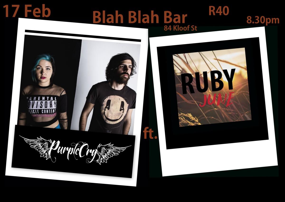 Blah Blah Bar 17 Feb 2016 & Ruby June
